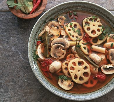 Vegan Lotus Root Tom Yum Soup
