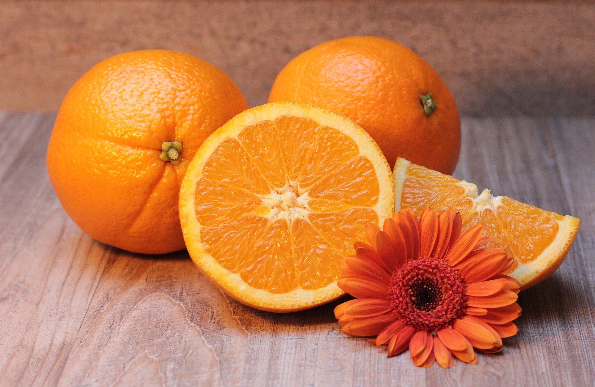 Orange, rich in folic acid