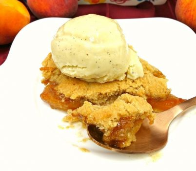 Paleo and Vegan Peach Cobbler