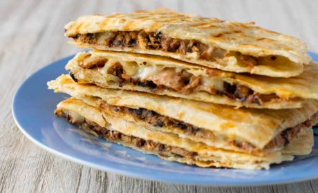 vegan jackfruit quesadilla