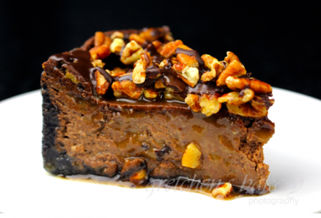 Vegan Chocolate Turtle Cheesecake