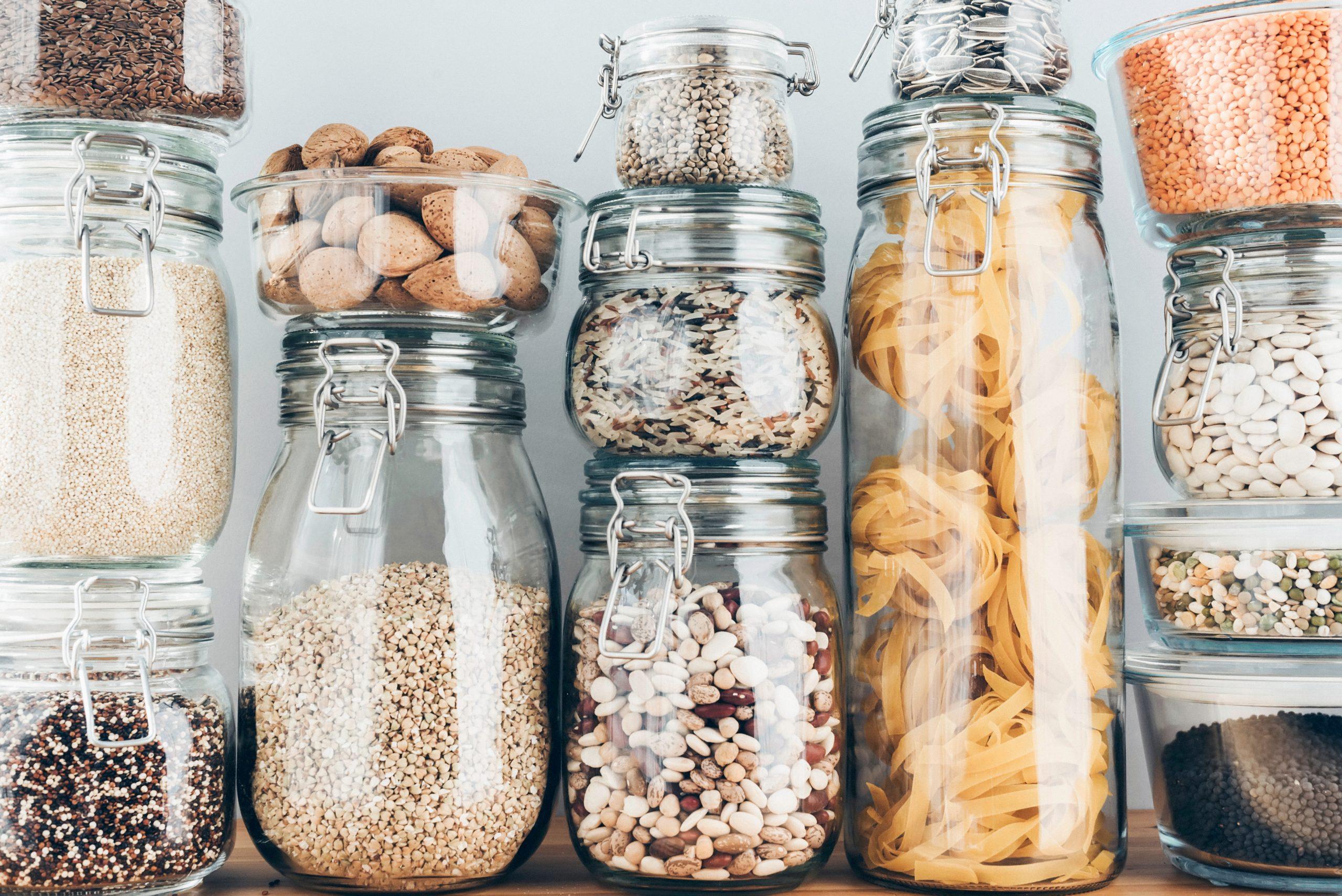 jars full of dry food