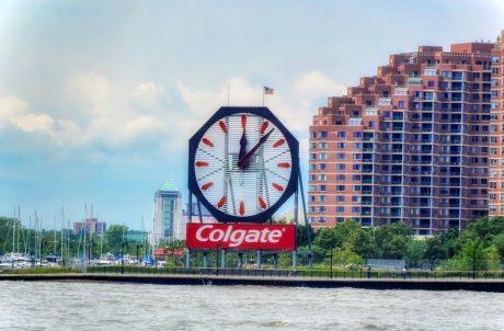 Colgate sign over Hudson River