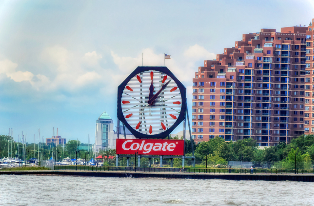 Colgate sign over Hudson River