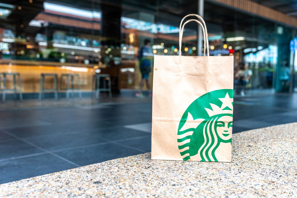 Starbucks' paper bag