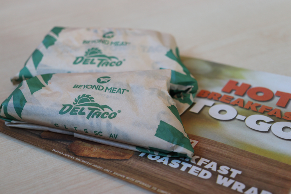 Beyond Meat tacos at Del Taco