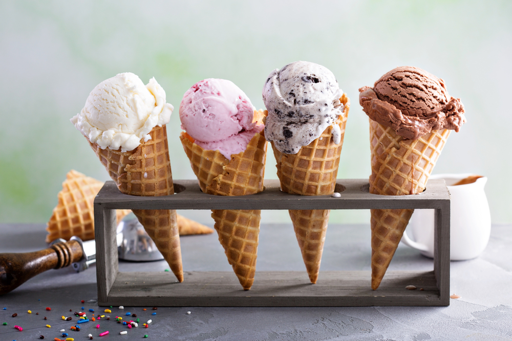 Row of Ice Cream Cones