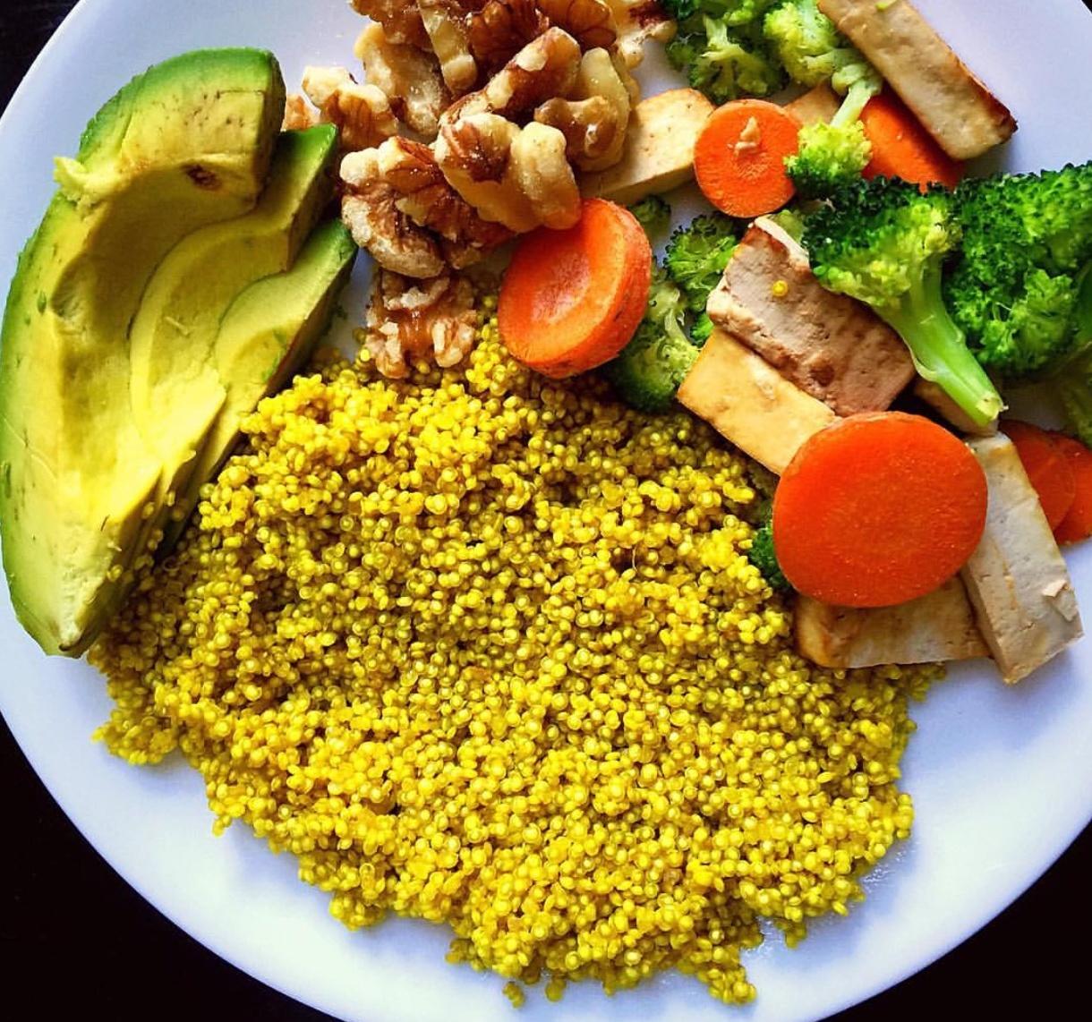 Vegan Turmeric Quinoa and Roasted Vegetables