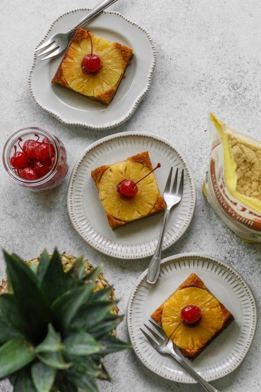 Almond Flour Pineapple Upside Down Cake