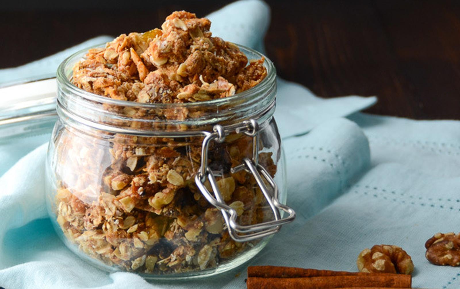 Apple Walnut Spice Granola