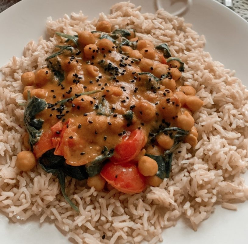Vegan Chickpea, Spinach and Coconut Curry viral recipe