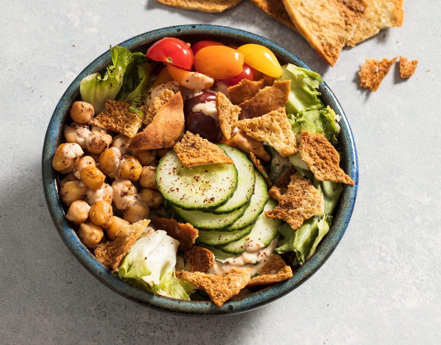 Vegan Fattoush Salad Bowl