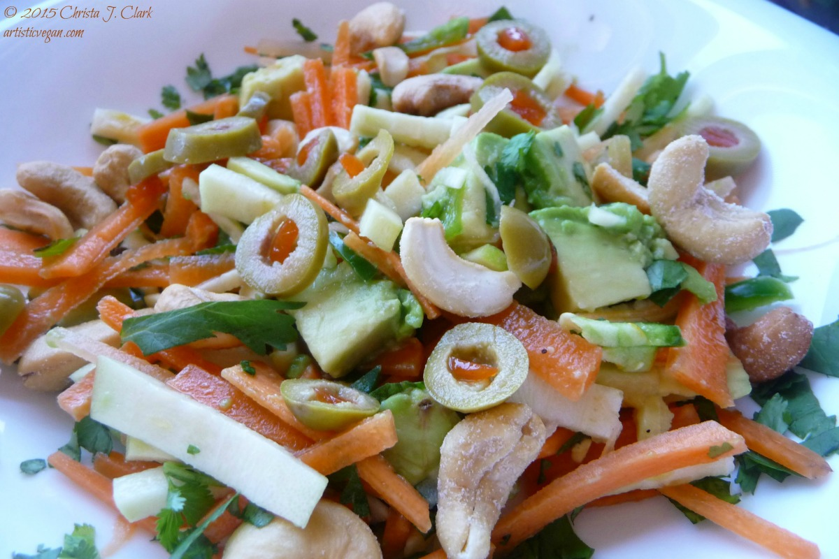 Alkalizing Fiesta Salad With Cilantro Lime Dressing