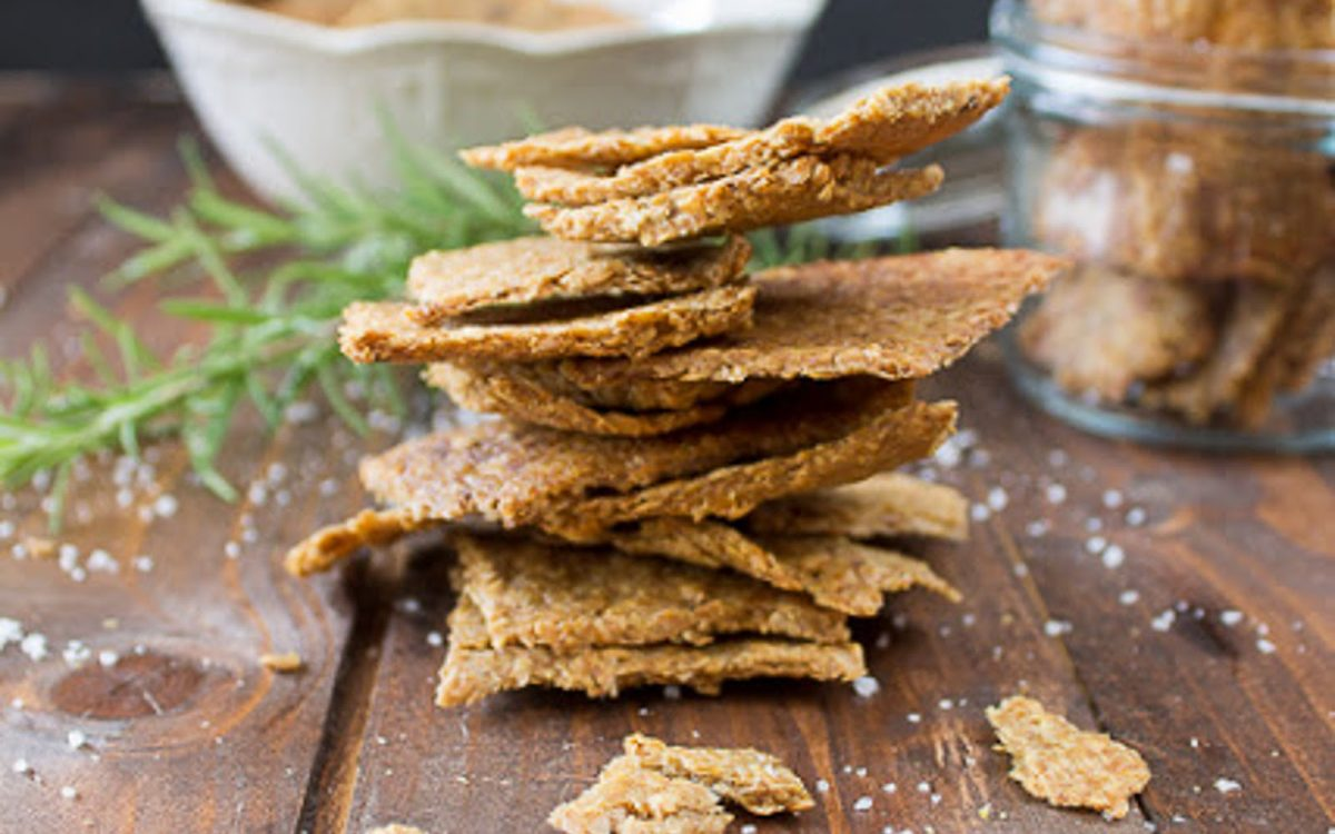 Garlic and Herb Flax Crackers