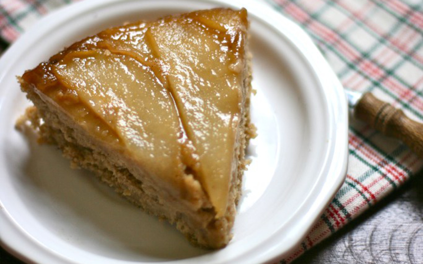 Ginger-Spiced Pear Upside Down Cake