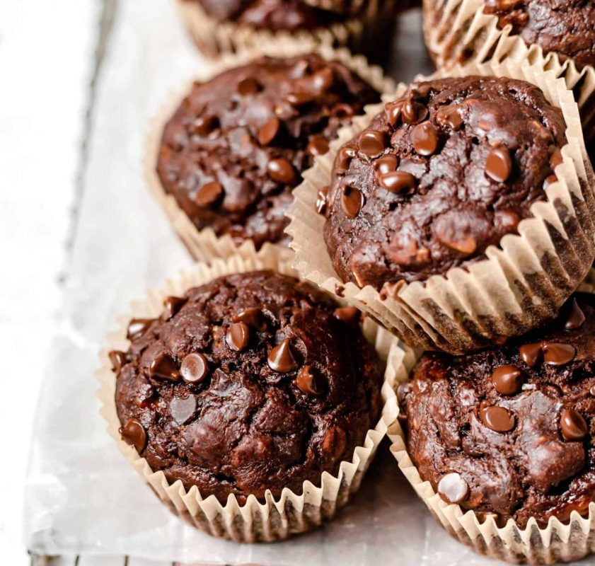 Vegan Peanut Butter and Chocolate Muffins