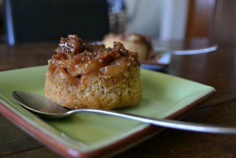 Banana-Pecan Upside Down Cakes