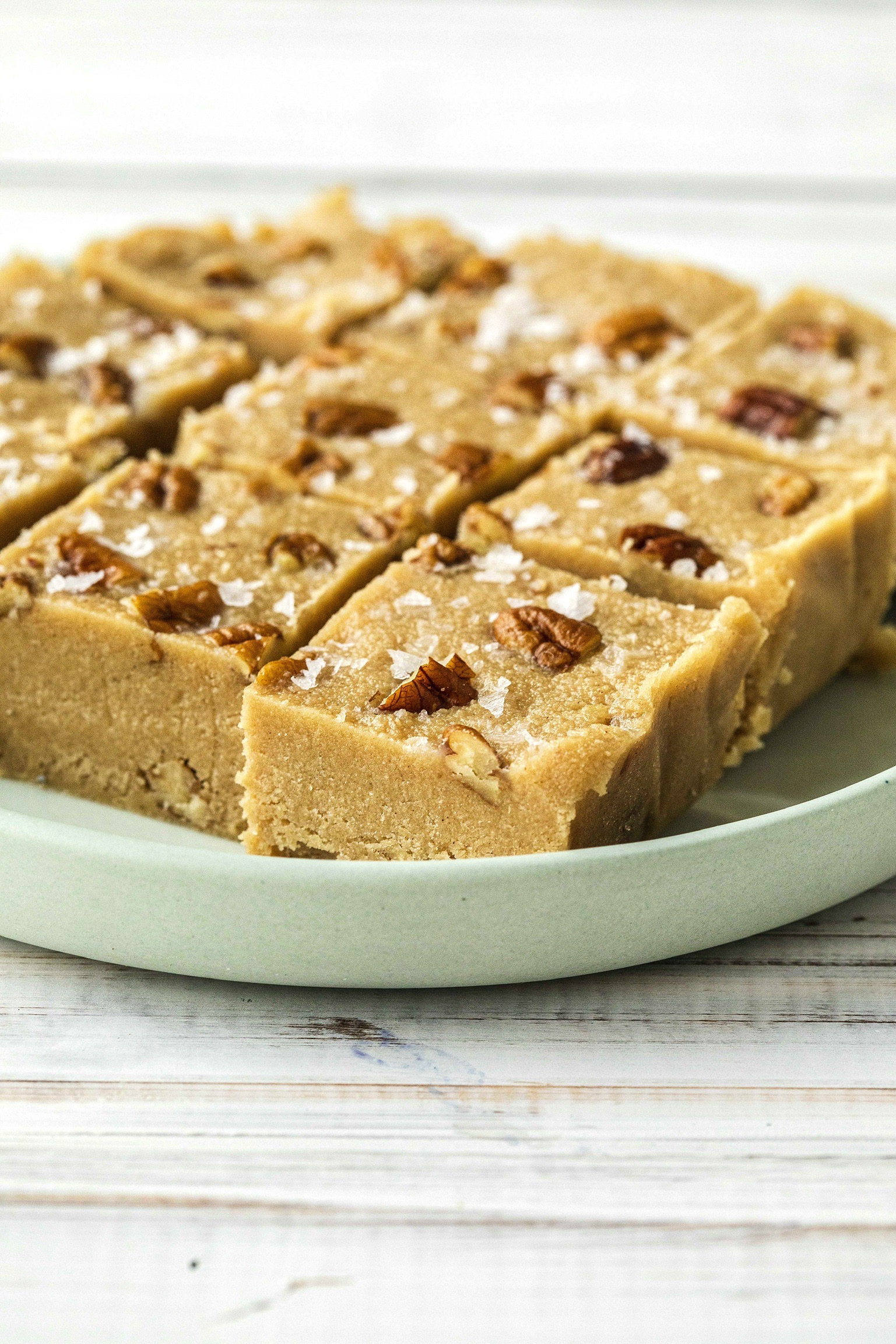 Maple Pecan Tahini Fudge