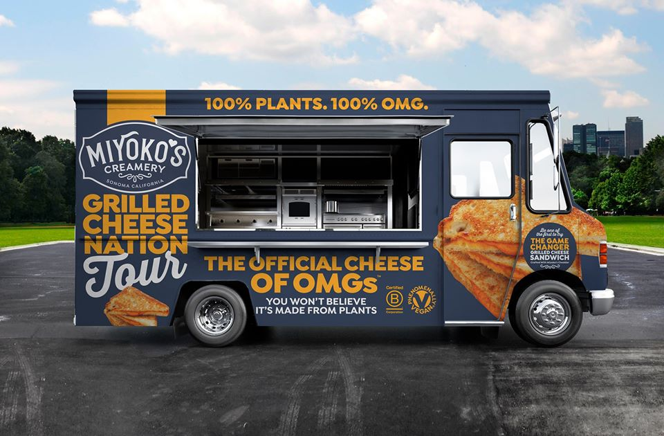 Miyoko's vegan grilled cheese food truck