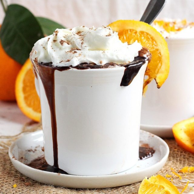 Vegan Orange-Infused Hot Chocolate