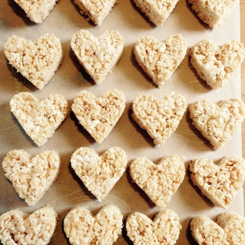 Vegan rice krispee hearts
