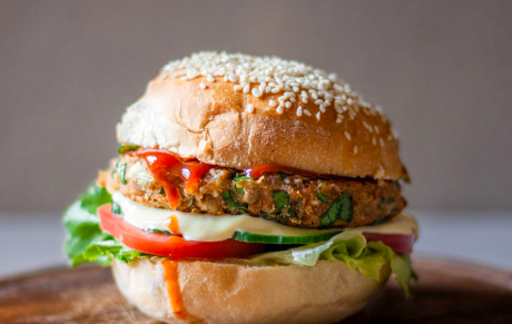 Low Fodmap Veggie Burger [Vegan]