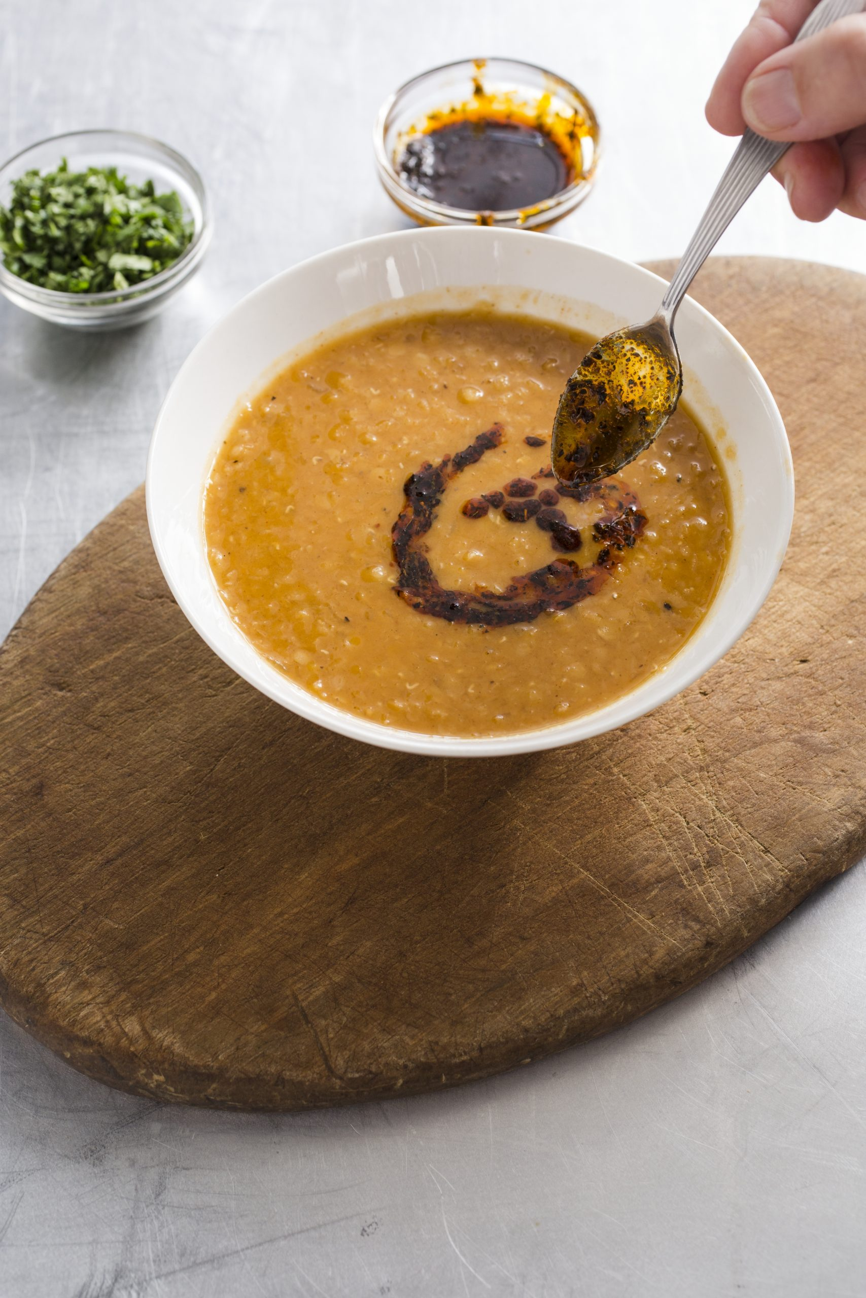 Vegan Red Lentil Soup with North African Spices