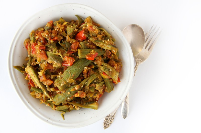 Vegan Curried Okra
