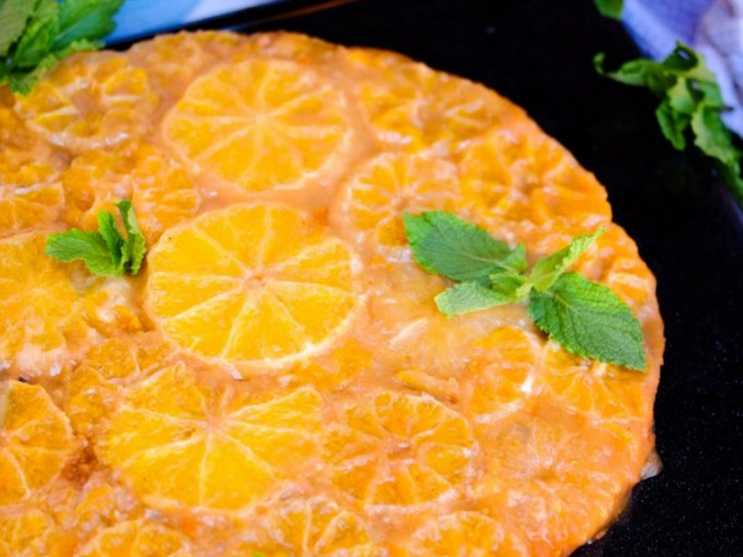 Upside-down Orange Cake