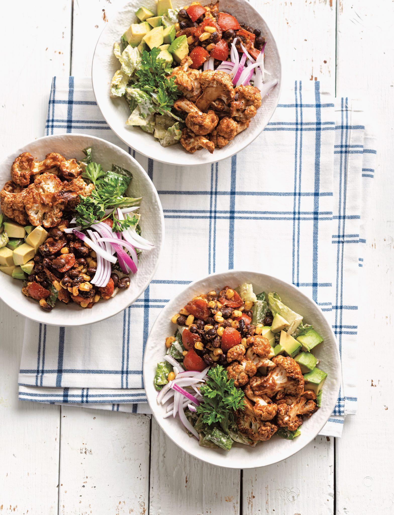 Vegan Cauli-Ranch Salad