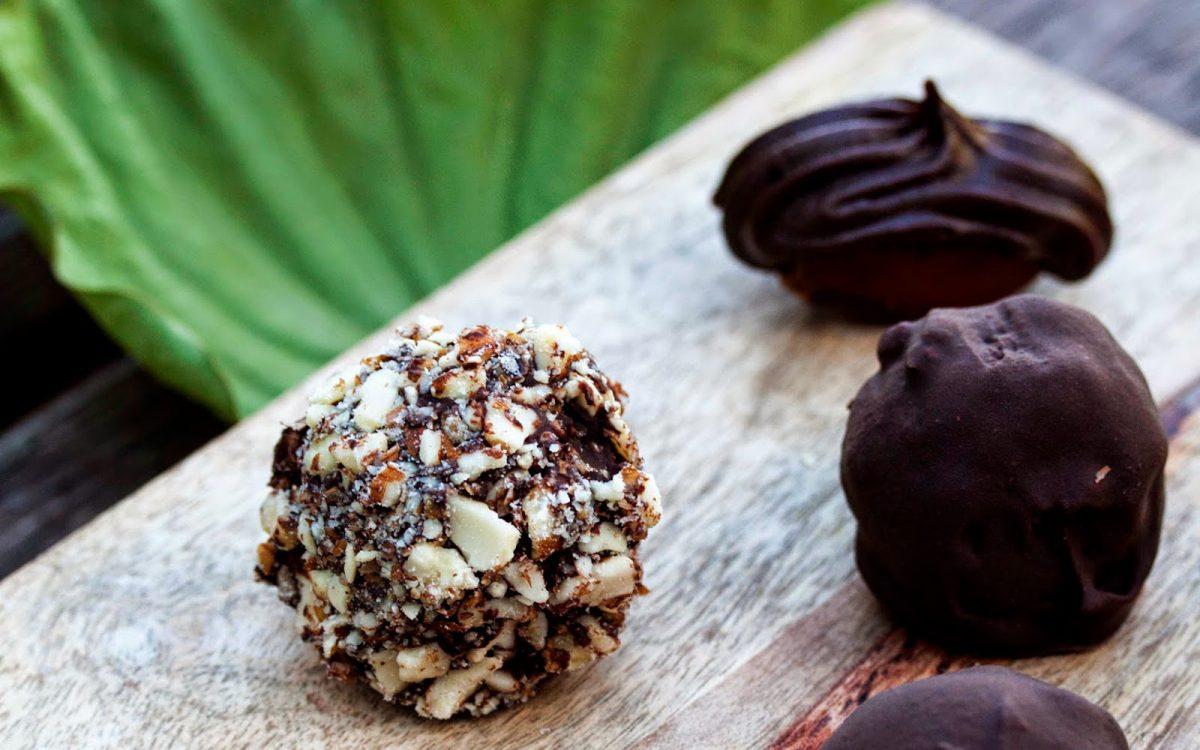 Raw Chocolate Easter Truffles