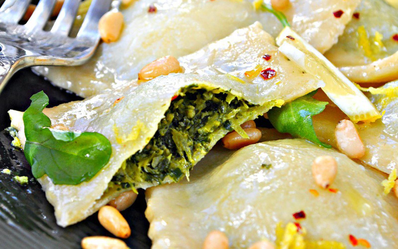 Broccoli Rabe Pesto Ravioli