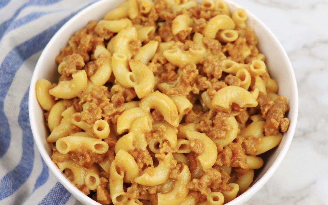 vegan cheeseburger macaroni
