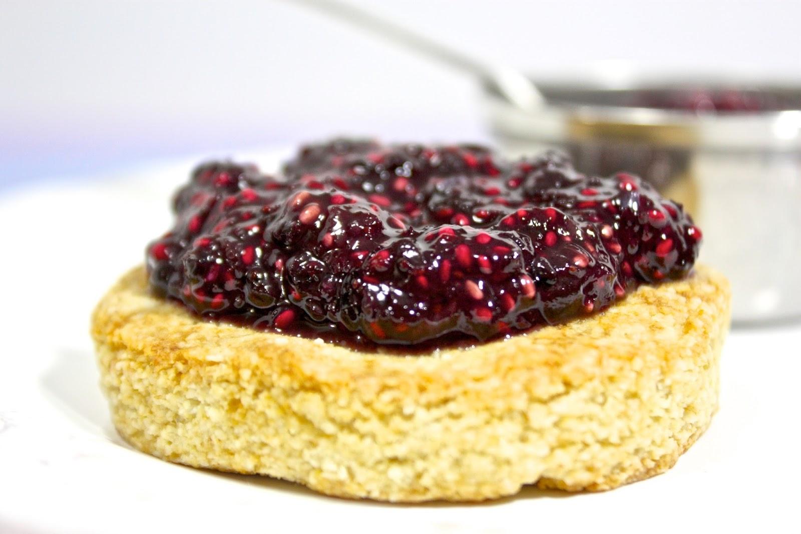 Blueberry Grape Chia Seed Refrigerator Jam
