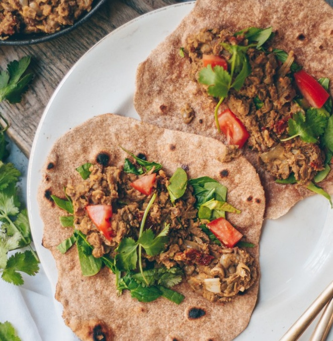 Vegan Lentil wraps
