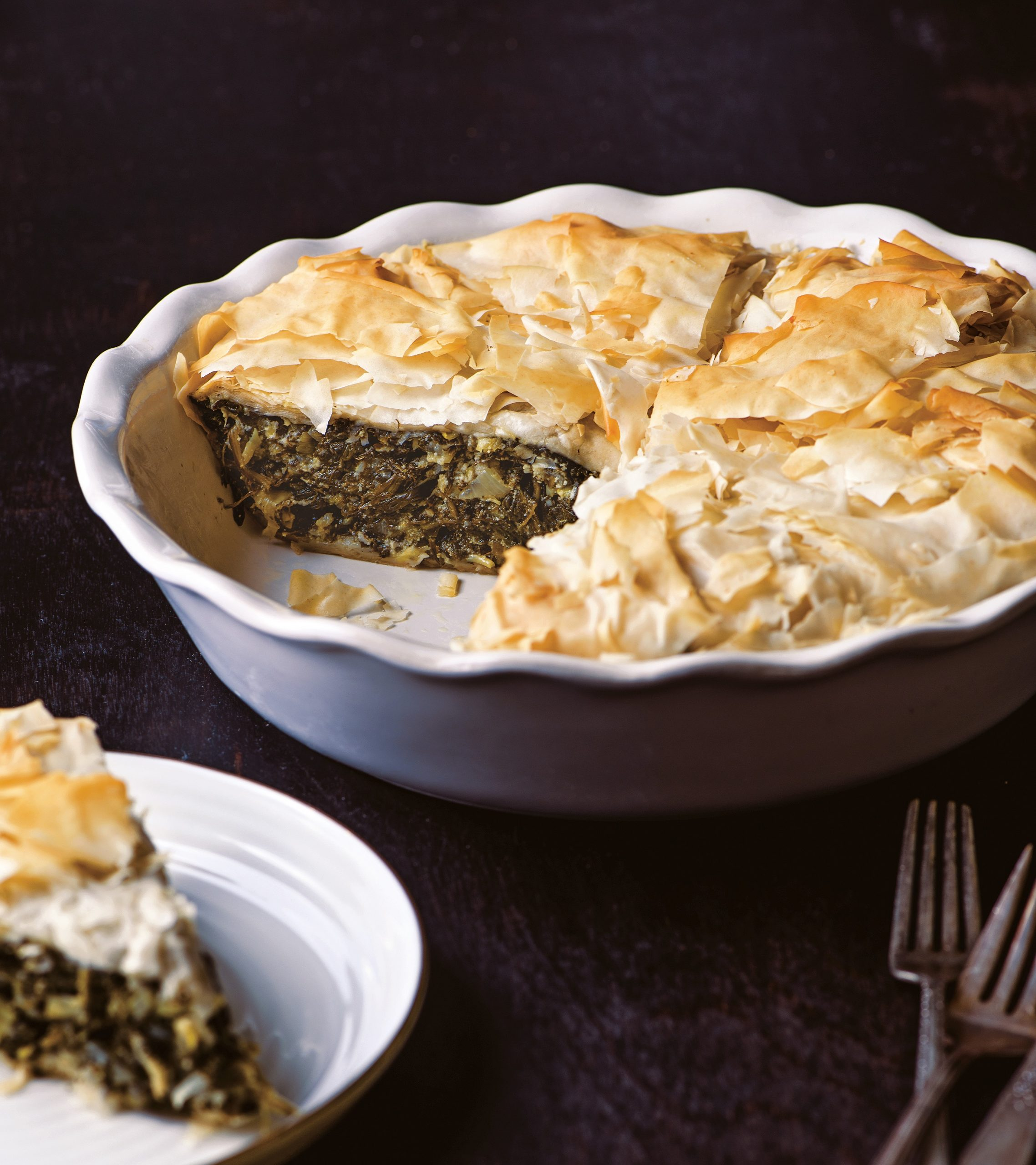 Deep-Dish Spinach Phyllo Pie