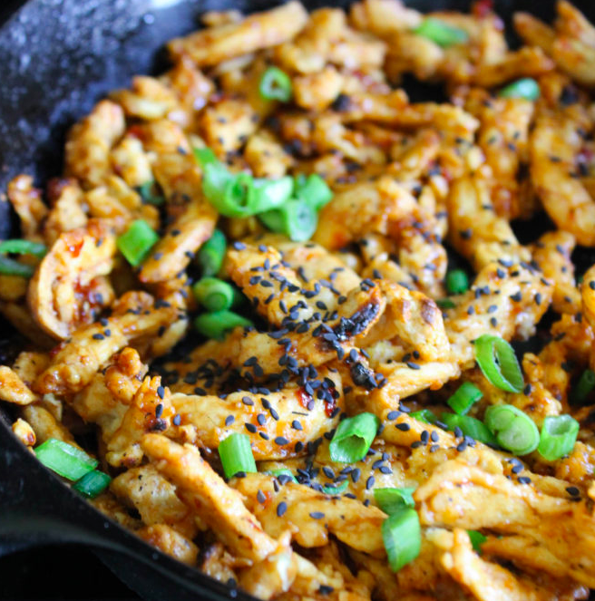 Vegan Sweet & Spicy Sticky Soy Curls