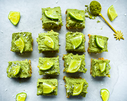 High Protein Matcha Lime Cheesecake
