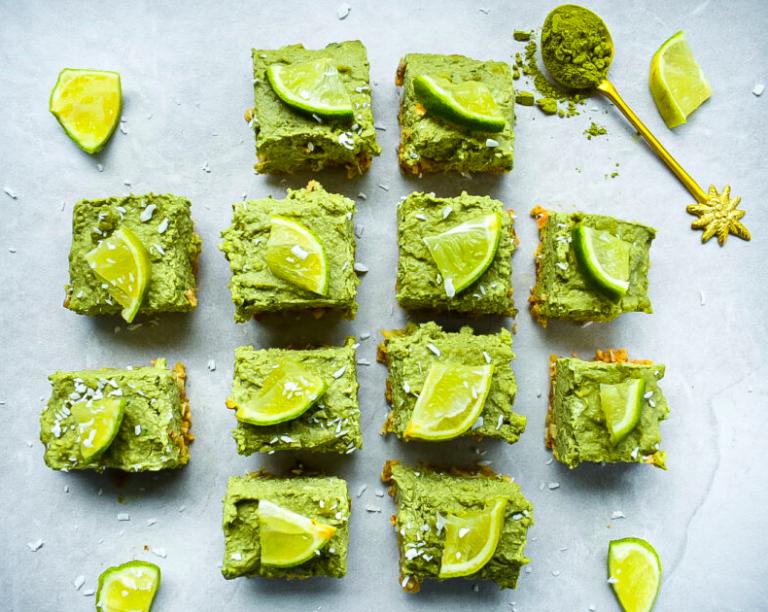 Vegan High Protein Matcha Lime Cheesecake