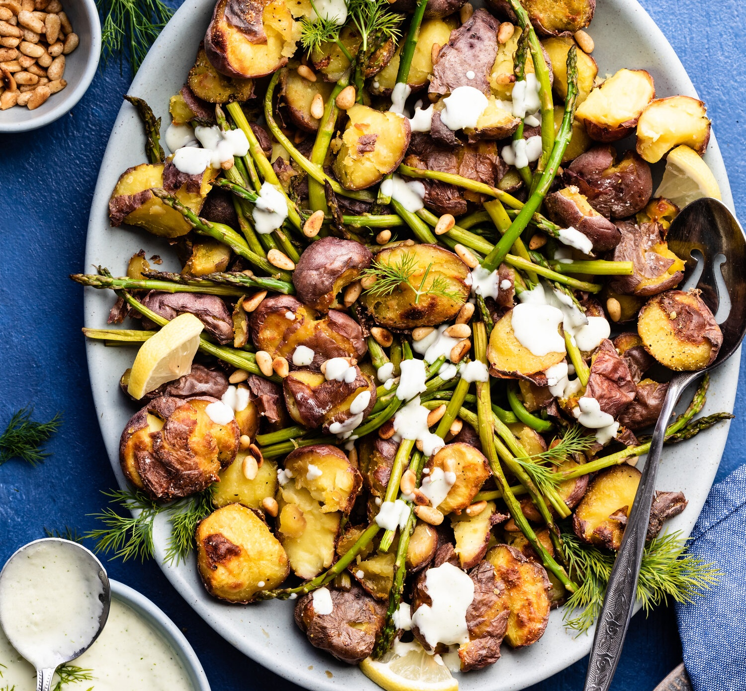 Vegan ROASTED POTATOES & ASPARAGUS SALAD