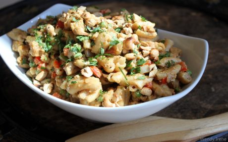 Gluten-Free Cashew Tempeh Pasta