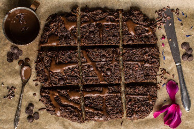 Gluten-free Lentil Brownies