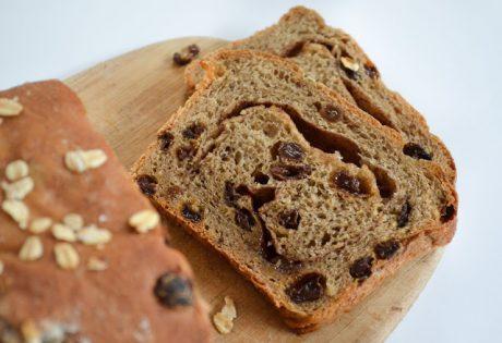 Whole Wheat Cinnamon Swirl Raisin Bread