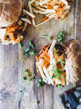 Pulled 'Pork' Sandwiches With Carrot Apple Slaw