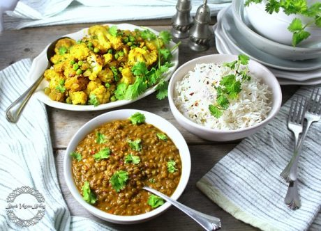 Lentil Masala With Curry Cauliflower