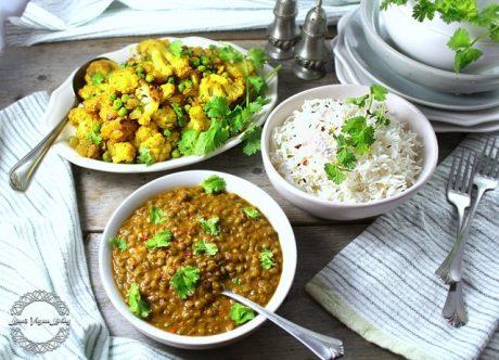 Lentil Masala With Curry Cauliflower