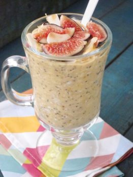 Peach Poppyseed Overnight Oatmeal