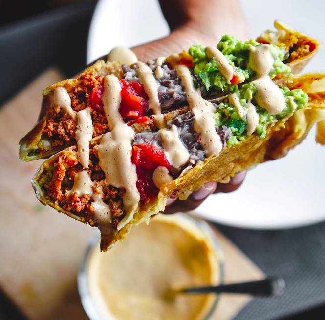 Vegan Crunch Wrap Supreme