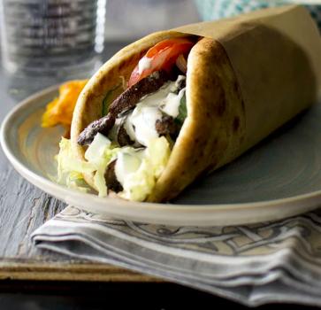 Greek Mushroom Pita Sandwich
