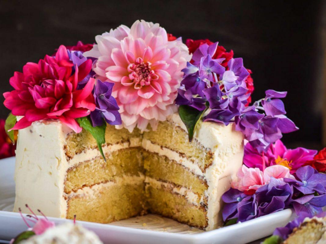 Triple Layer Vanilla Velvet Cake